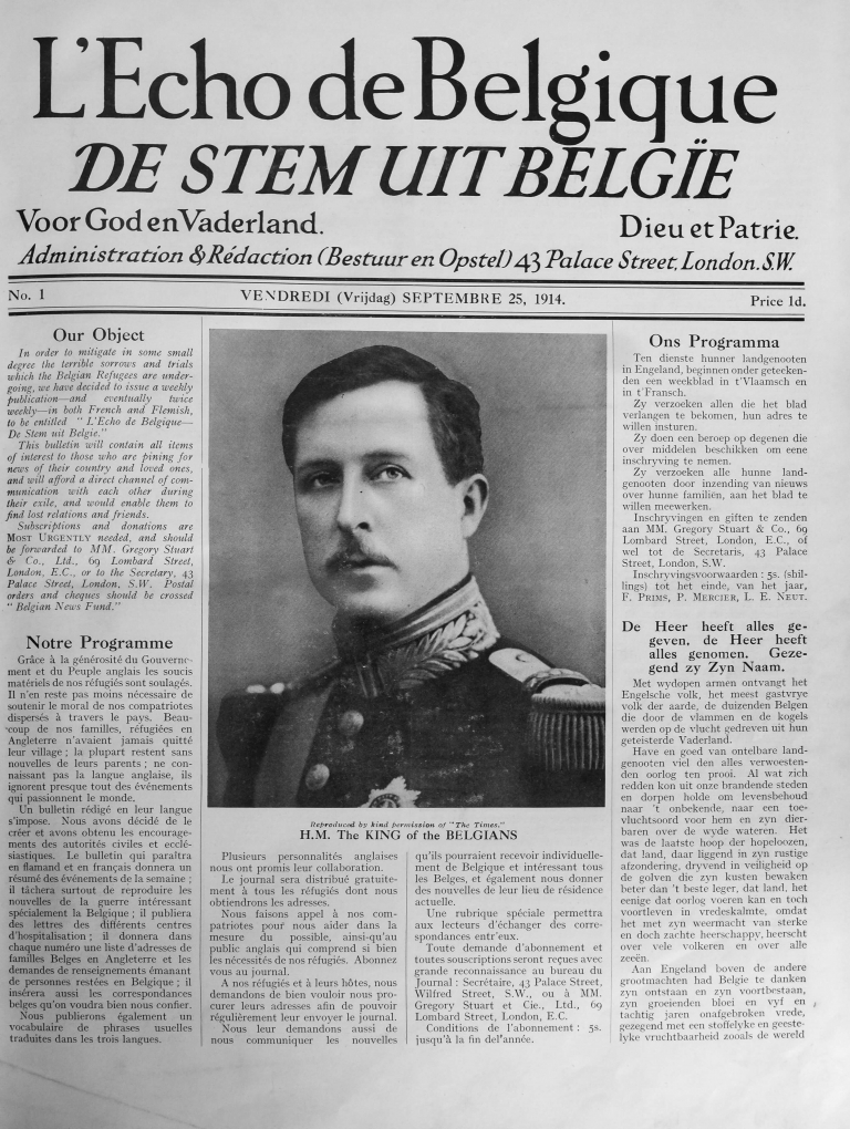 Allereerste De Stem uit België, 25 september 1914