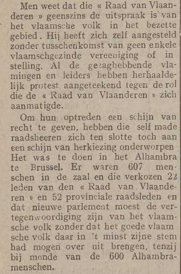 Ons Vlaanderen, 24 februari 1918