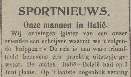 Onze mannen in Italië - NvdGO, De Belgische Standaard 20/06/1917, p.2