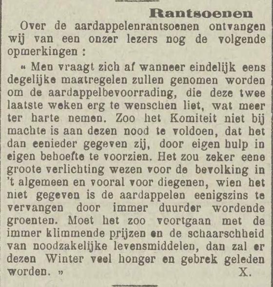 'Rantsoenen', Het Vlaamsch heelal: katholiek - zondagsblad, 8 september 1917, p. 2
