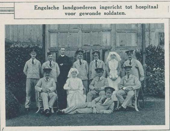 Engelse landgoederen ingericht tot hospitaal voor gewonde soldaten (De oorlog in beeld, 01/04/1918, p. 8)