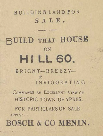 'Buildingland for sale', The Wipers Times, 12/02/1916, p. 11.