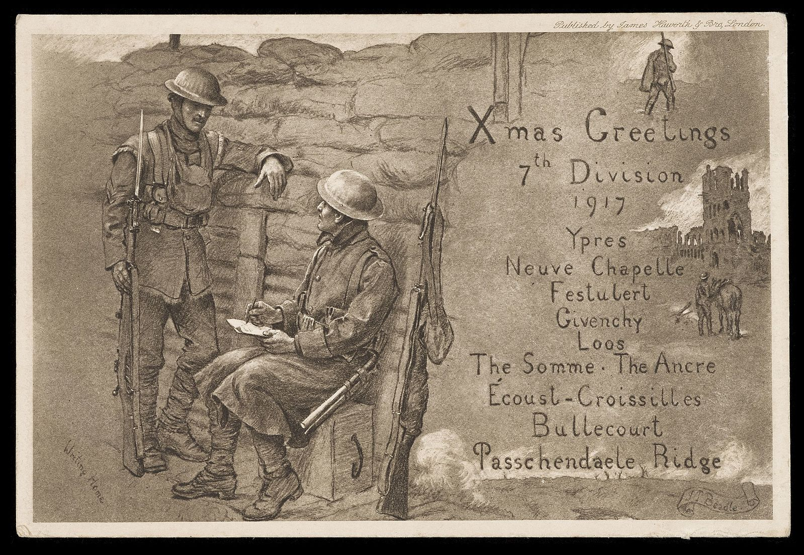 Christmas Postcard - Archives and Manuscripts RAMC/1015/5, L0049548