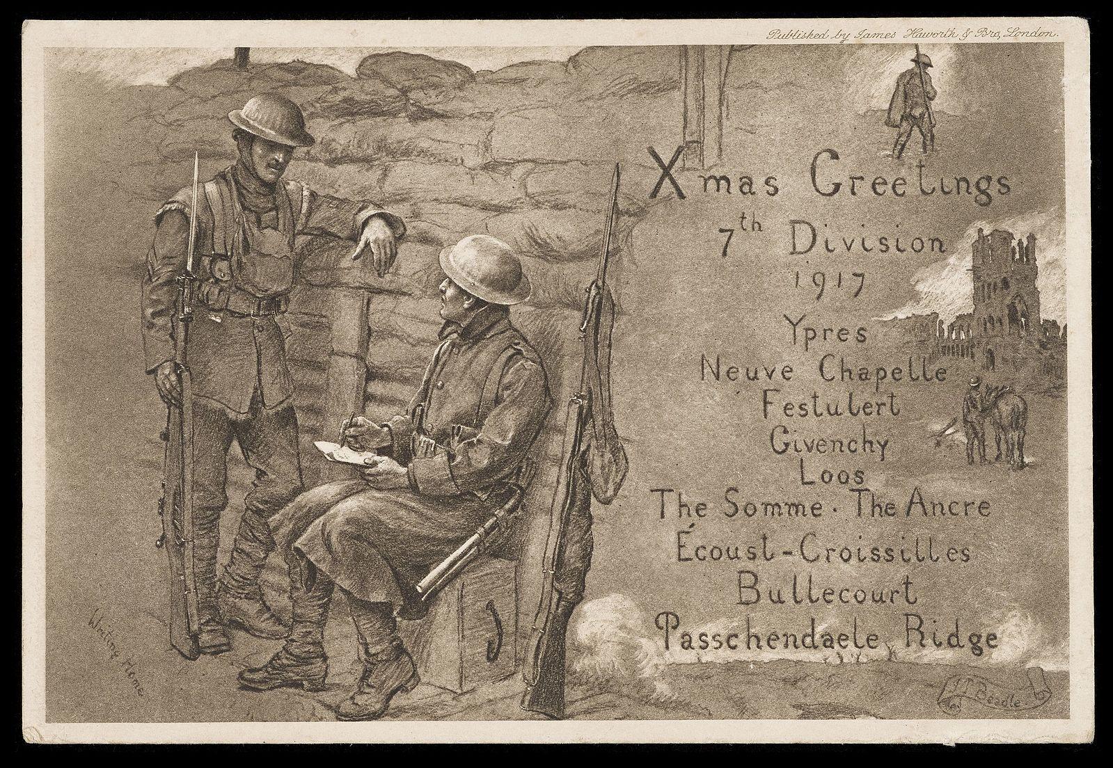 Christmas Postcard - Archives and Manuscripts RAMC/1015/5, L0049548