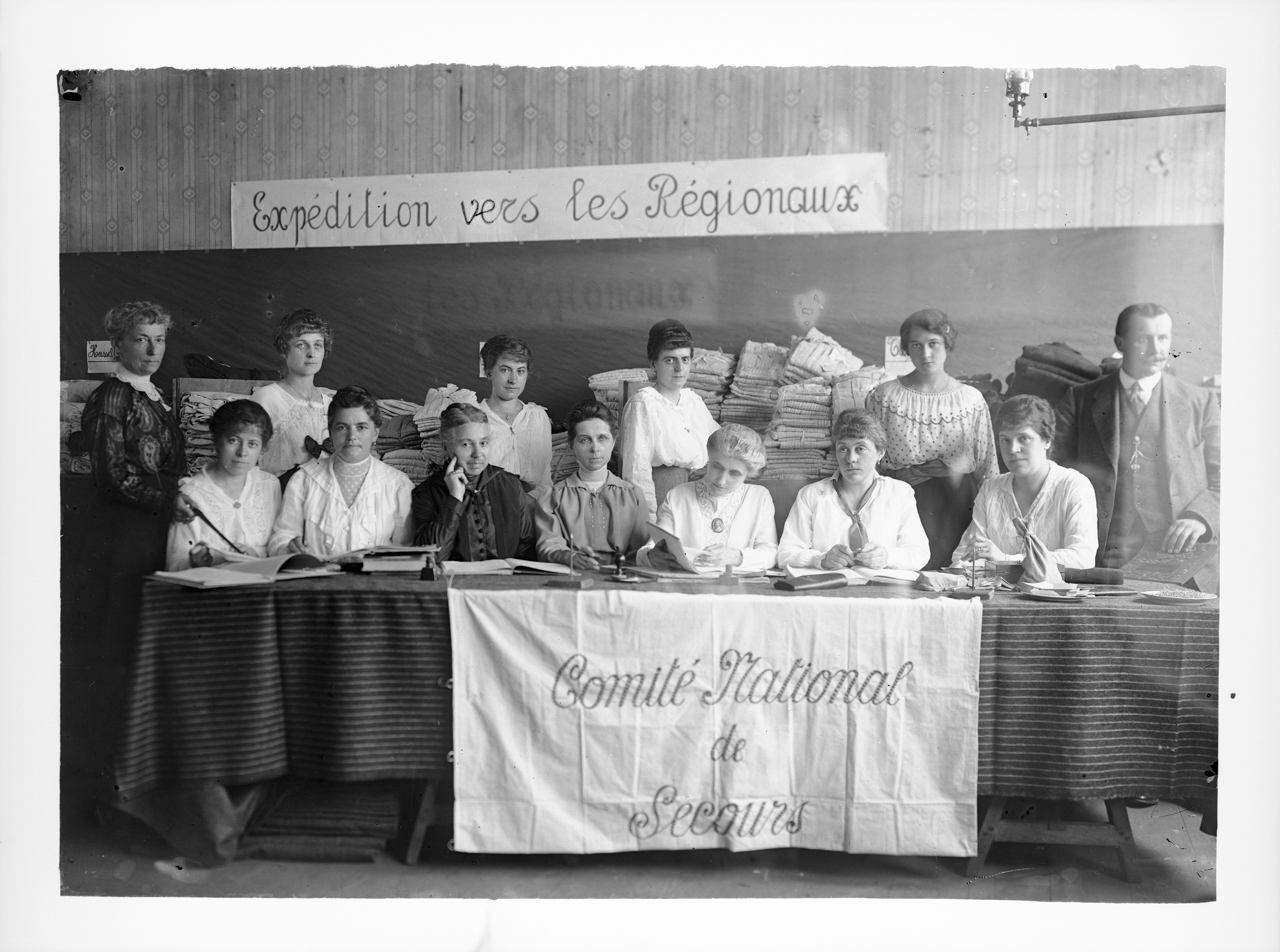 De expeditieafdeling van het Hasseltse magazijn op het einde van de Eerste Wereldoorlog.