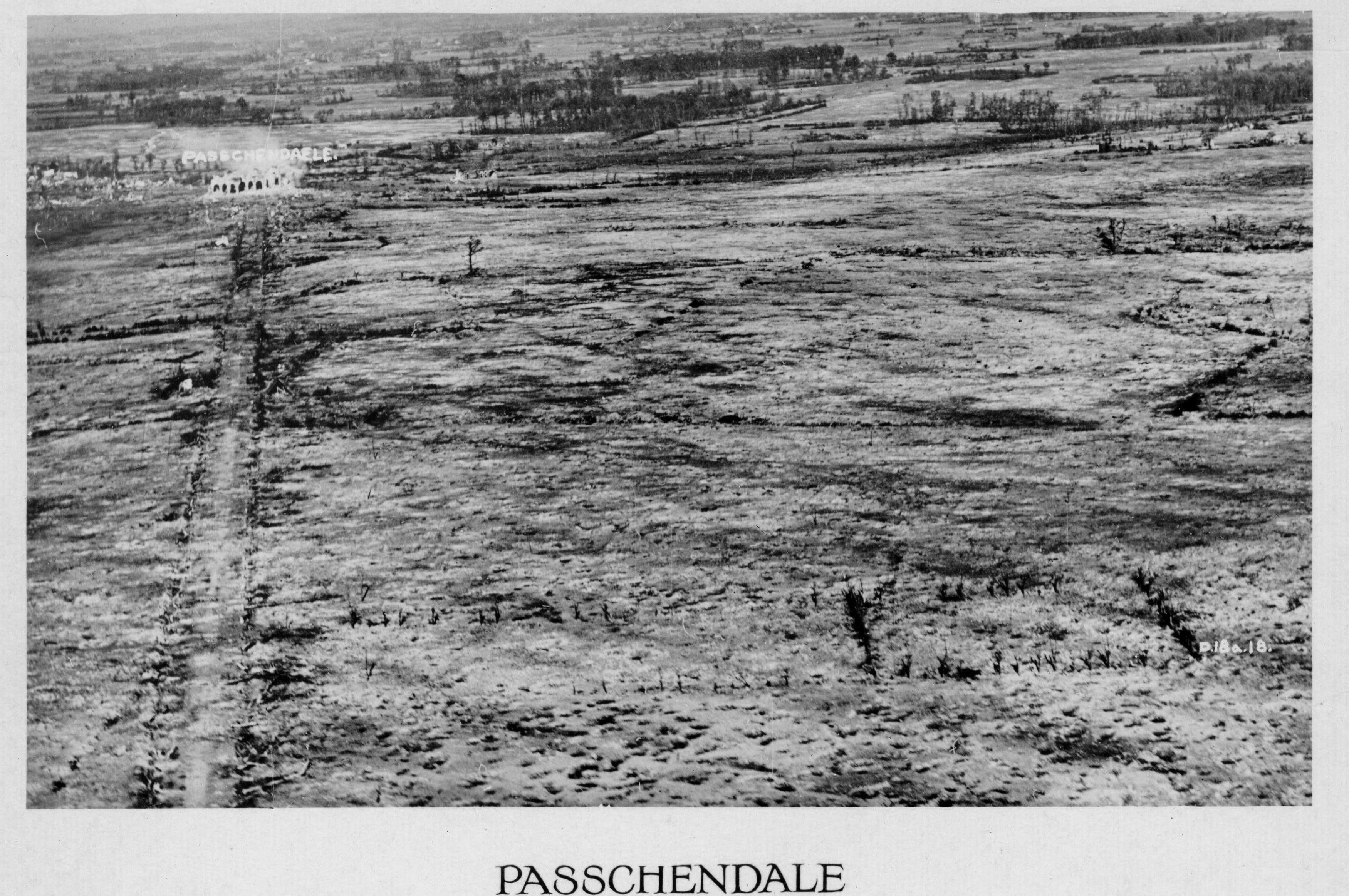 De slag bij Passchendaele, oktober 1917 (Memoriaal Museum Passchendaele 1917)