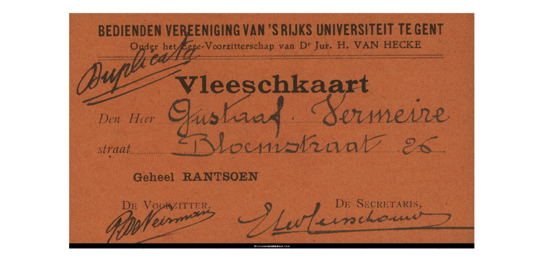 - Rantsoenkaart. Bron: Universiteit Gent, http://www.europeana1914-1918.eu/nl/europeana/record/9200142/BibliographicResource_3000006440676#prettyPhoto