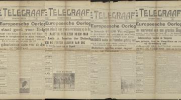 Van sportjournalist tot oorlogscorrespondent.  De sportpers tijdens de Duitse invasie in 1914.