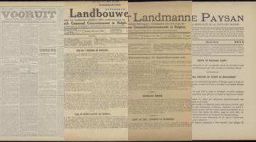 Landbouw tijdens de Eerste Wereldoorlog