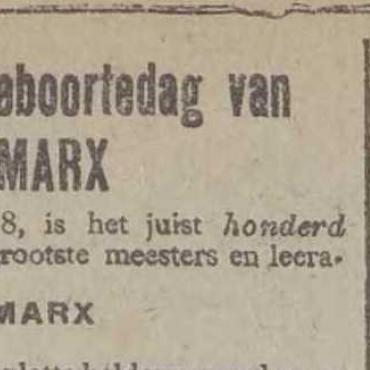 De 200ste verjaardag van Karl Marx